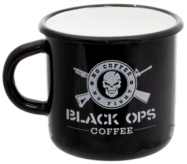BLACK OPS COFFEE Becher Emaille 300 ml