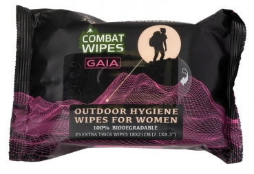 Combat Wipes Gaia Outdoor-Hygiene-Feuchttuch 25er Pack