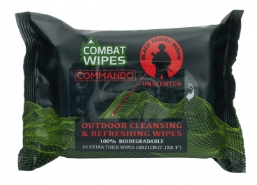 Combat Wipes Reinigungstücher Commando 25er Pack