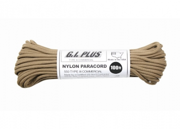PARACORD 550LB NYLON 100 FT 30 Meter coyote brown