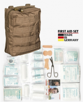 FIRST AID SET LEINA 43 teilig DARK COYOTE