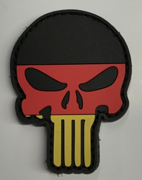 GERMANY Flag Skull Black Eyes Velcro patch
