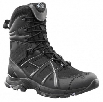 Black Eagle Athletic 11 High Black Sidezipper