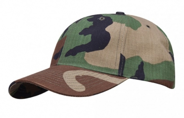 PROPPER 6 Panel Baseball Cap Woodland Camouflage