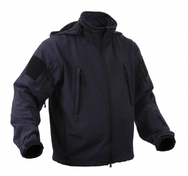 SPECIAL OPS TACTICAL SOFT SHELL FLEECE JACKET NAVY BLUE