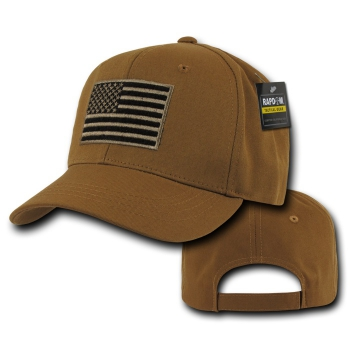 Embroidered USA Operator Cap Coyote