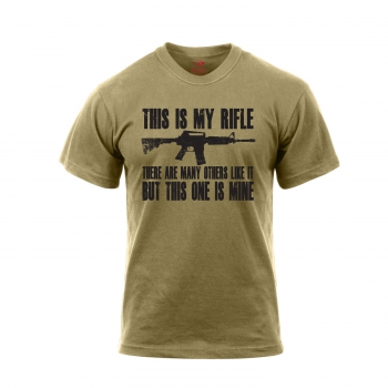 'This Is My Rifle' USMC Rifleman's Creed T-Shirt coyote brown