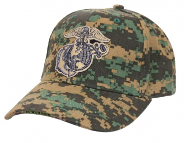 USMC Globe & Anchor Low Profile Insignia Woodland digital Cap