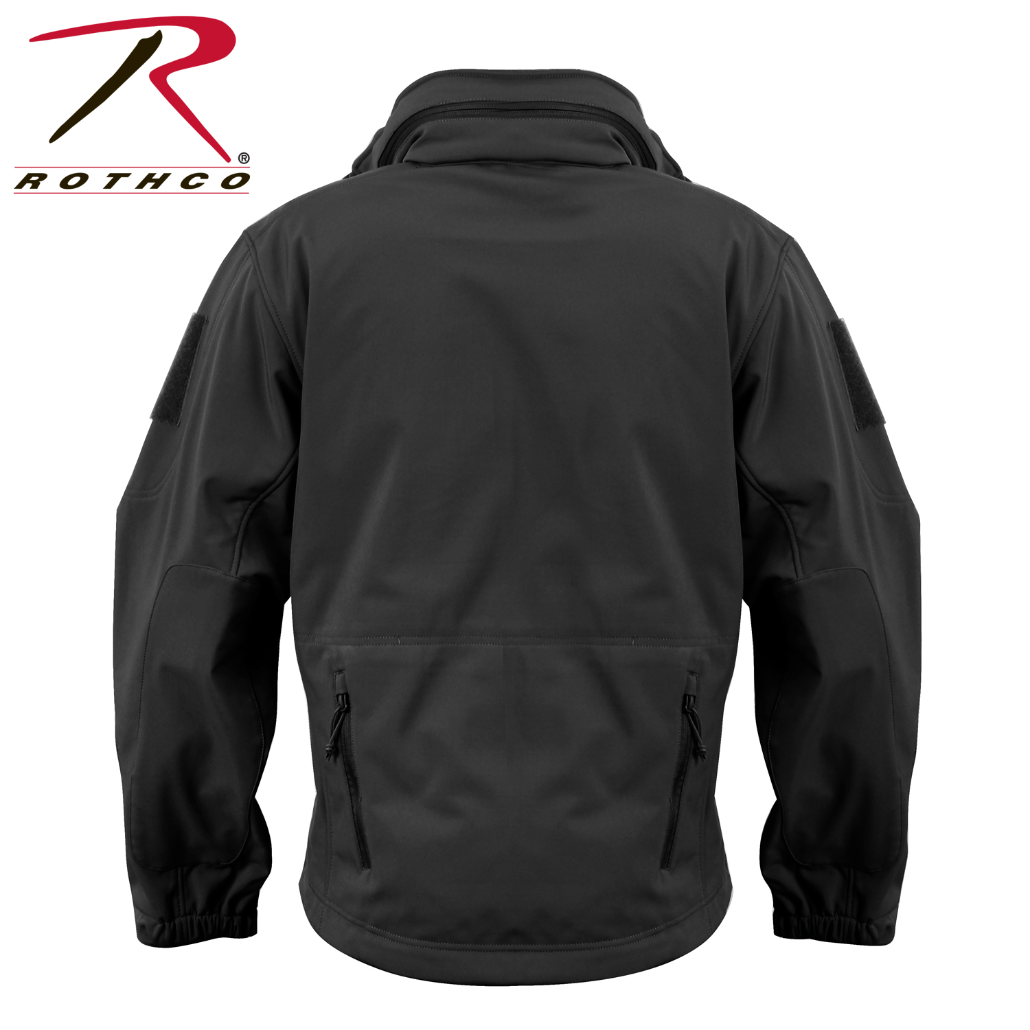 SPECIAL OPS TACTICAL SOFT SHELL FLEECE JACKET BLACK