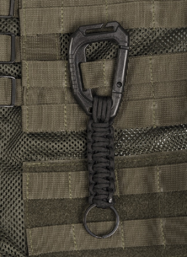 BLISTER TACTICAL ARMY OUTDOOR BUSHCRAFT KARABINER HAKEN MOLLE SCHWARZ