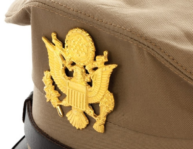 US AIRFORCE OFFIZIER VISOR HAT Schirmmütze Khaki (REPRO)
