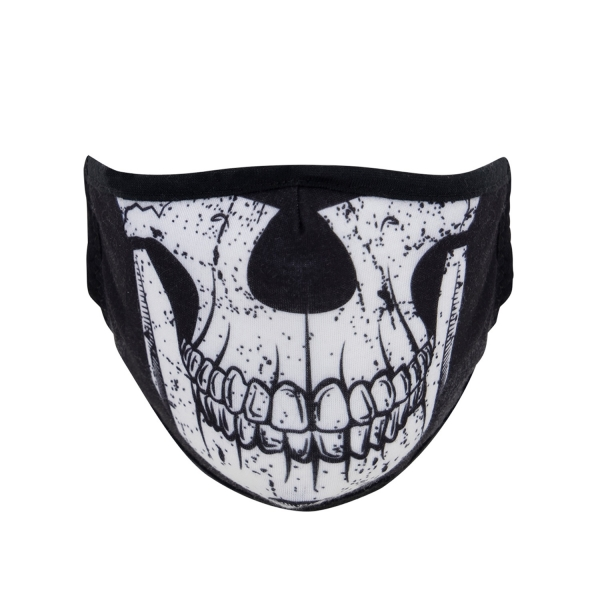 Mund- und Nasenmaske Half Skull Reusable 3-Layer Face Mask