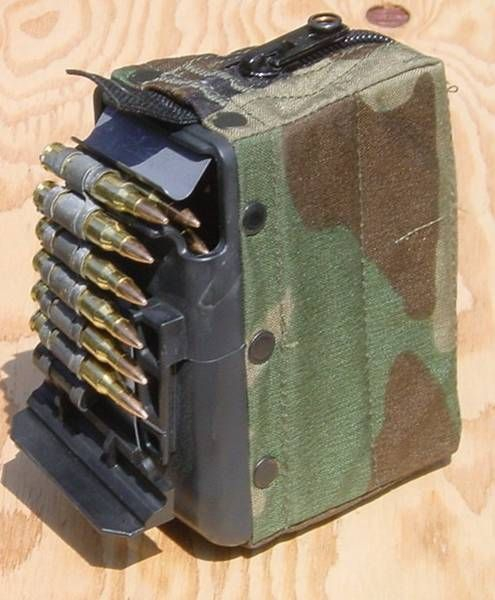 US ARMY M249 SAW camouflage Behälter pouch