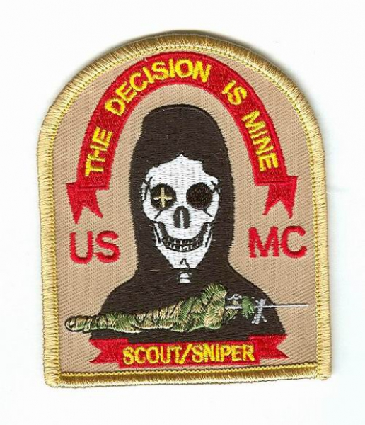 US Marines Army USMC Scout Sniper the decisionis Mine ...