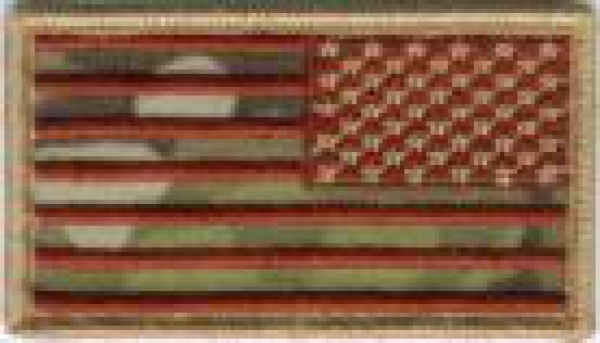 AMERICAN US FLAGS  MULTICAM - REVERSED patch