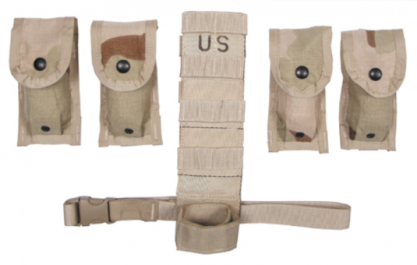 US Army MOLLE II 3 color desert tan Magazintaschenset