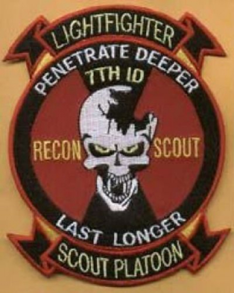 US ARMY 7th Infantry RECON SCOUT patch
