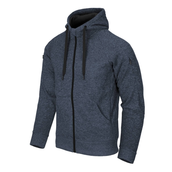 Helikon-Tex Covert Tactical Hoodie (FullZip)® - Melange Blue