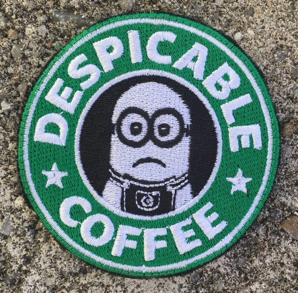 DESPICABLE COFFEE Velcro patch