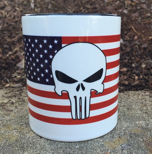 Coffee Mug 'USA Flag - Punisher'