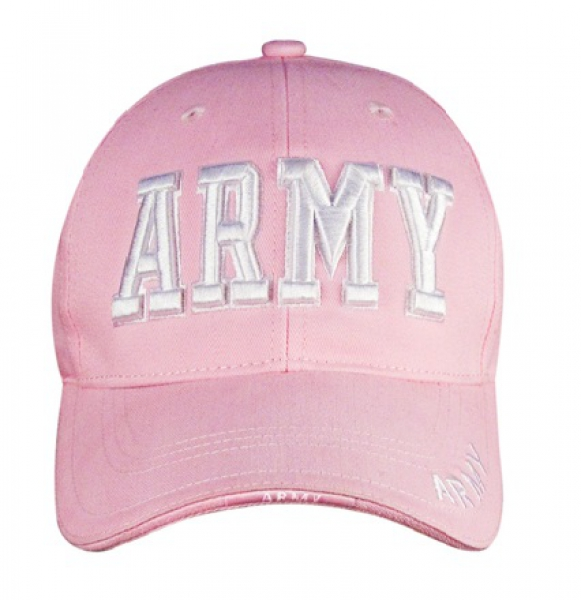 PINK DELUXE LOW PROFILE CAP - ARMY