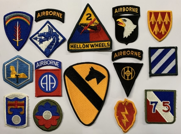 16 US Army Military Konvolut Assorted Mix Uniform Patches