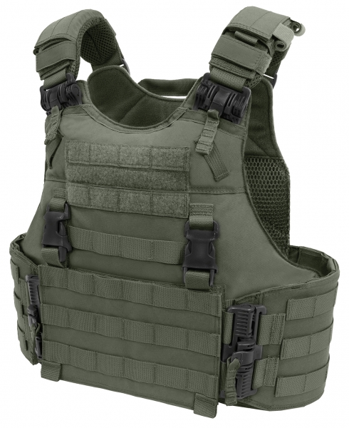 Warrior Assault System Quad Release Molle Plate Carrier Oliv Green
