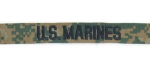U.S.MARINES Corps MARPAT woodland tab Name tape Namensstreifen Nickname