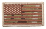 AMERICAN FLAGS MULTICAM - Forward Velcro Abzeichen