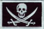 US NAVY SEAL SKULL & CROSSBONE CALICO JACK PIRATE Velcro PATCH