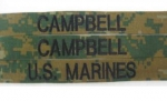U.S.MARINES Corps MARPAT woodland MCCUU NAME TAPES SET