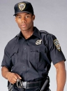 NAVY BLUE SHORT SLEEVE POLICE AND SECURITY UNIFORM SHIRT
