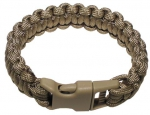 Paracord Armband coyote tan Breite 2,3 cm