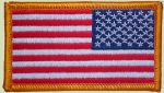 US Army Airforce Marines Navy Velcro ACU USA Flagge full color patch reversed