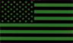 US ARMY FORWARD AMERICAN Flag Green IR INFRARED REFLECTIVE patch