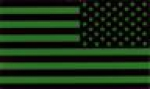 US ARMY REVERSED flag green IR Velcro patch