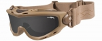 SPEAR GOGGLE SMOKE CLEAR Brille Tan