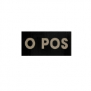 0 POS INFRARED Blood Type PATCH - With Hook Fastener