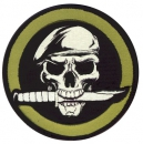 MILITARY SKULL / KNIFE PATCH WITH HOOK BACK