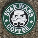 STAR WARS COFFEE PVC Velcro patch