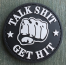 TALK SHIT * GET HIT PVC Velcro patch